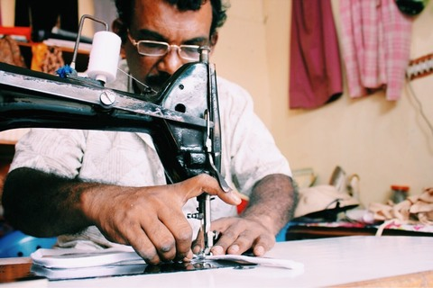 Tailor making handmade ethical underwear